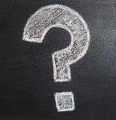 Question mark written in chalk