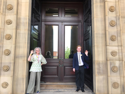 Harris visitor staff welcome