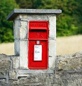 A red UK post box