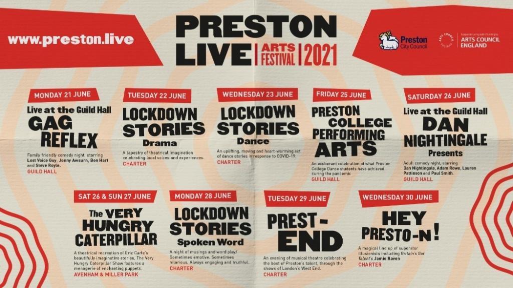 Preston Live Artist Line Up