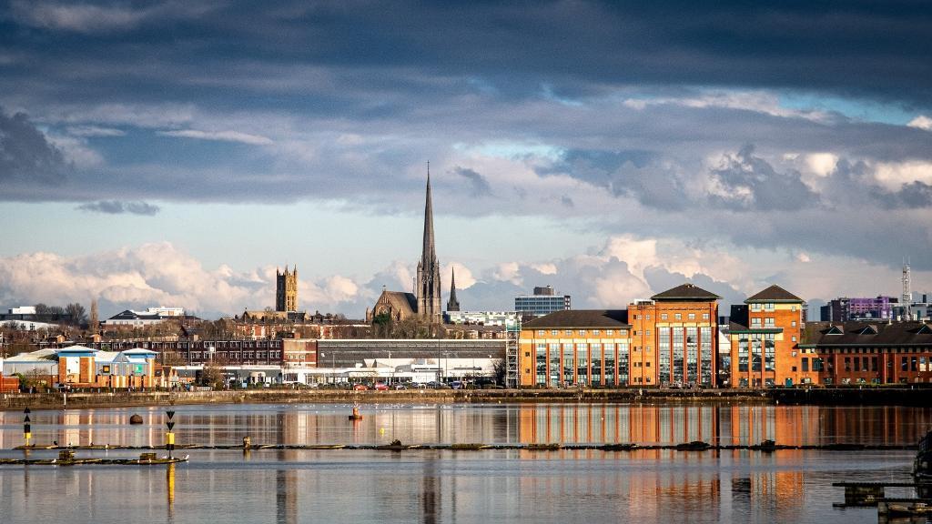 Preston Docks Cityscape